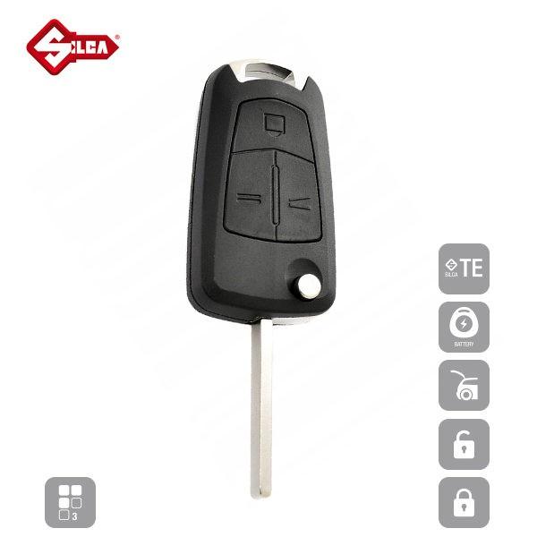 SILCA Empty Key Shells 3 Button HU100RS8_A