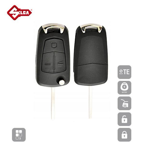 SILCA Empty Key Shells 3 Button HU100RS8_B