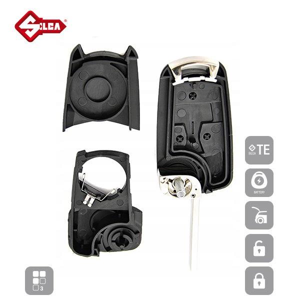 SILCA Empty Key Shells 3 Button HU100RS8_C
