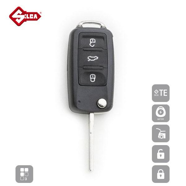 SILCA Empty Key Shells 3 Button HU66BRS8_A