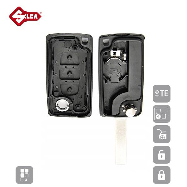 SILCA Empty Key Shells 3 Button HU83BRS8N_C