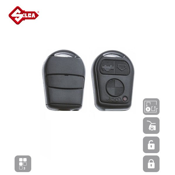 SILCA Empty Key Shells 3 Button HU92RRS8N_B