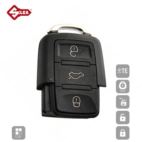 SILCA Empty Key Shells 3 Button HURSA8_A