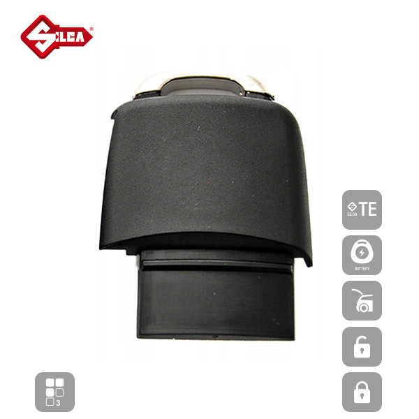 SILCA Empty Key Shells 3 Button HURSA8_B