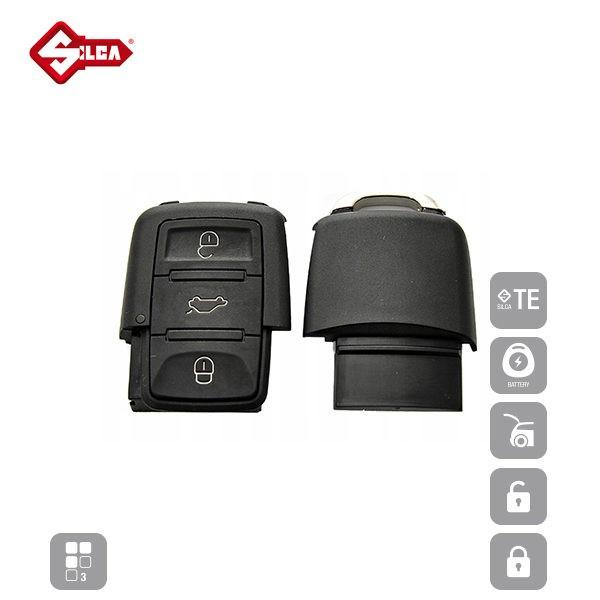 SILCA Empty Key Shells 3 Button HURSA8_C