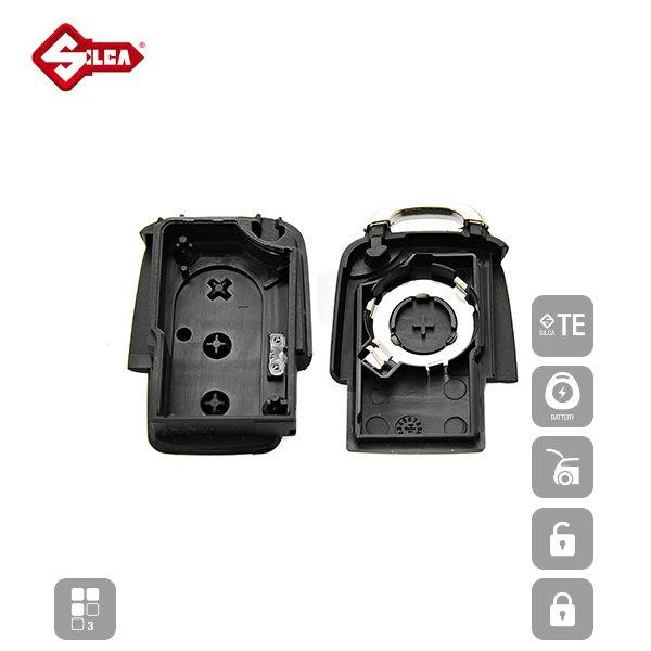 SILCA Empty Key Shells 3 Button HURSA8_D