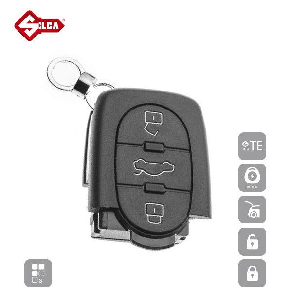 SILCA Empty Key Shells 3 Button HURSB8_A