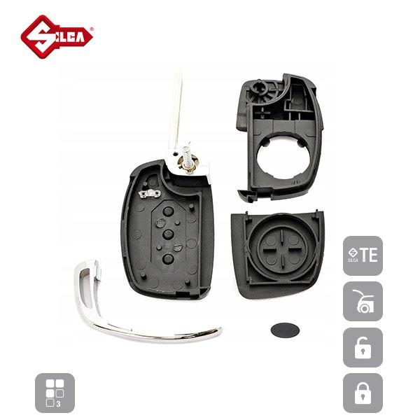 SILCA Empty Key Shells 3 Button KIA8RS8_C