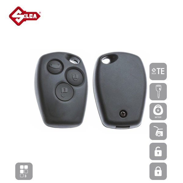 SILCA Empty Key Shells 3 Button NERS5_C