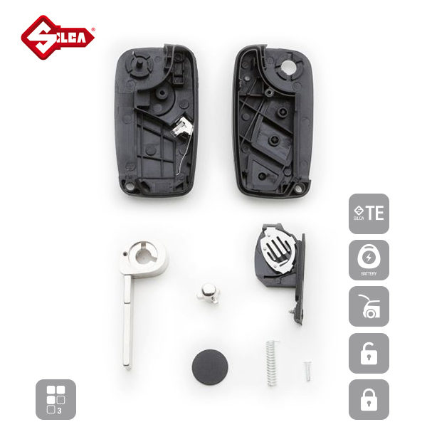 SILCA Empty Key Shells 3 Button SIP22RS8_C