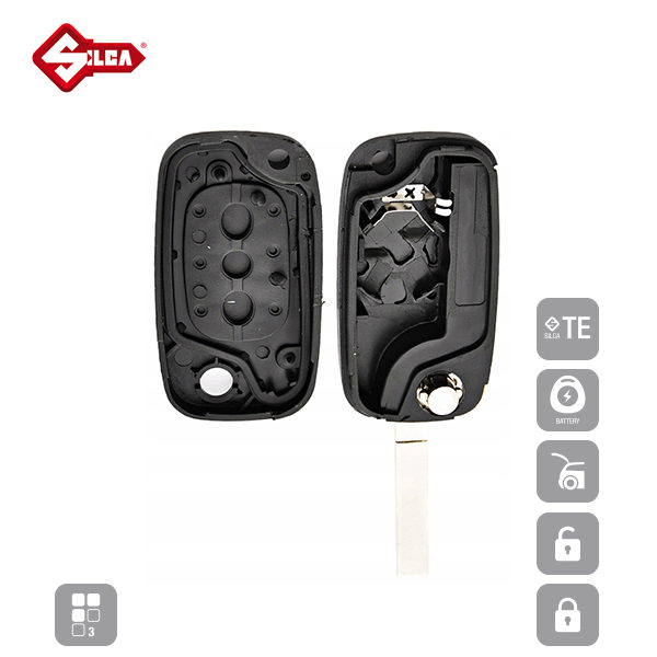 SILCA Empty Key Shells 3 Button VA2ERS8_C