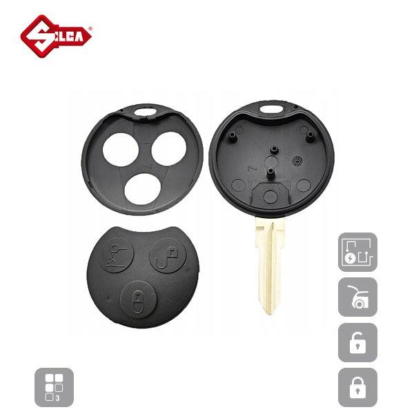 SILCA Empty Key Shells 3 Button YM23RS8_C