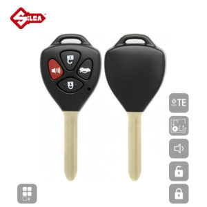 SILCA Empty Key Shells 4 Button TOY43ARS10