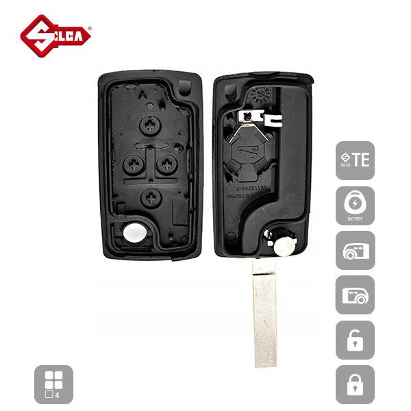 SILCA Empty Key Shells 4 Button VA2CRS7_C
