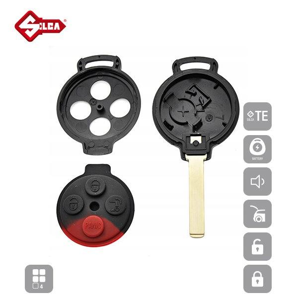 SILCA Empty Key Shells 4 Button VA2DRS10_C
