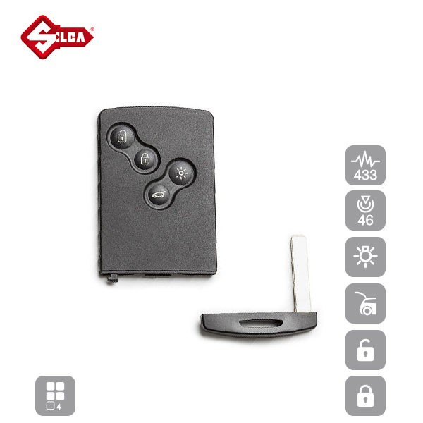 SILCA Proximity, Slot and Remote Vehicle Keys 4 Button VA150S15_B