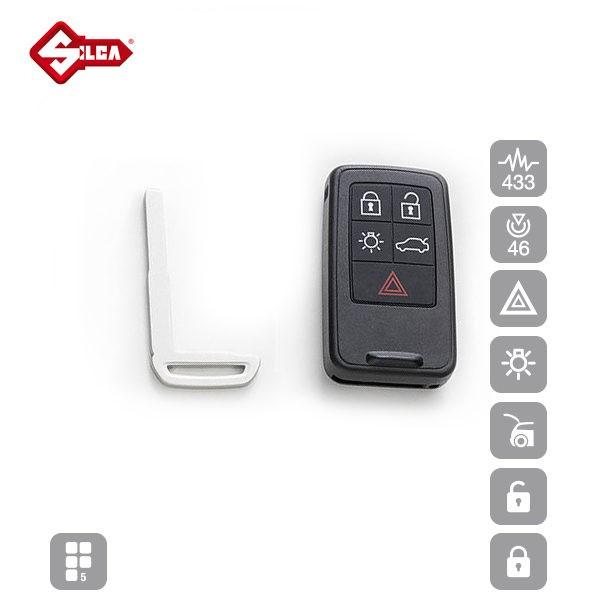 SILCA Proximity, Slot and Remote Vehicle Keys 5 Button HU152S16_B