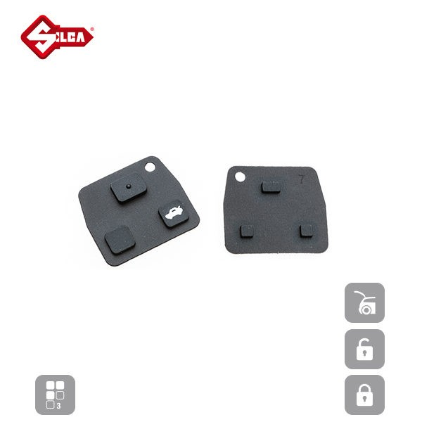 SILCA Rubber Pads 3 Button TOYRS8_A