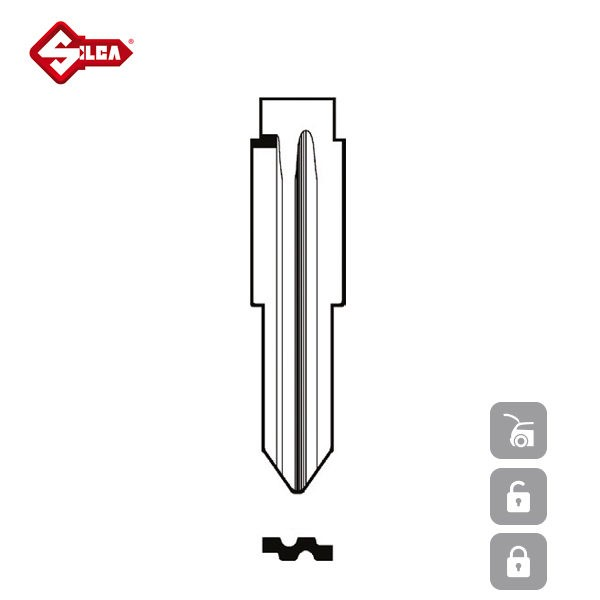 SILCA Transponder Look Alike Keys NE75TE_B