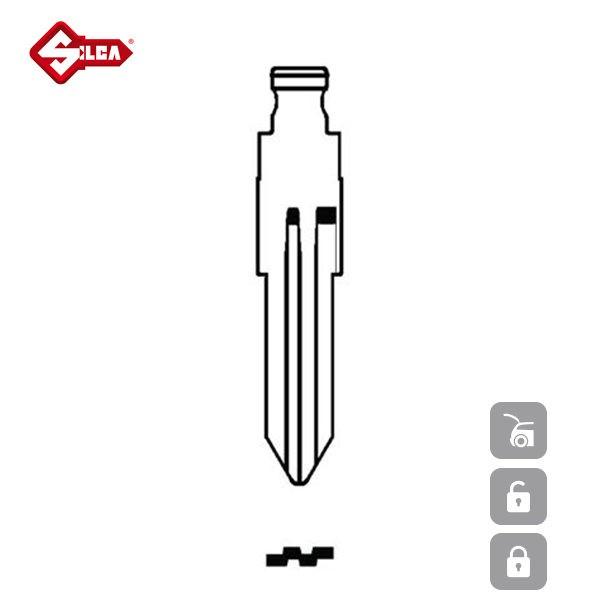 SILCA Transponder Look Alike Keys NSN11TE_B