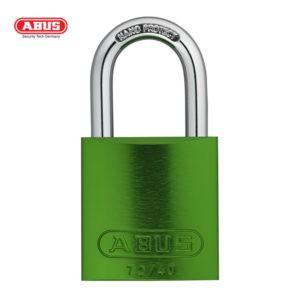 ABUS 72 Series Anodized Aluminium Padlock 72/40-GRN