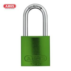 ABUS 72 Series Anodized Aluminium Padlock 72/40HB40-GRN