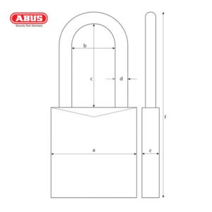 ABUS 72 Series Anodized Aluminium Padlock 72/40HB40-YEL