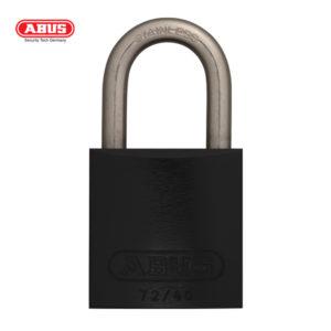 ABUS 72 Series Anodized Aluminium Padlock 72IB/40-BLK