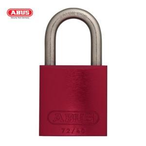ABUS 72 Series Anodized Aluminium Padlock 72IB/40-RED