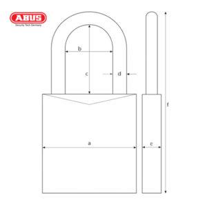 ABUS 72 Series Anodized Aluminium Padlock 72IB/40-YEL
