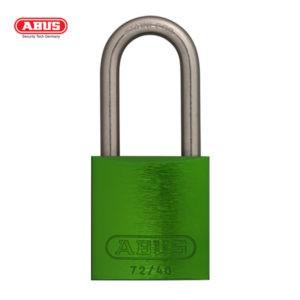 ABUS 72 Series Anodized Aluminium Padlock 72IB/40HB40-GRN